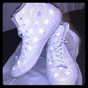 Reflective Star spangled Converse